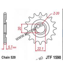 EMGO - Pinion (fata) JTF1446, 13 dinti - KX250F 2006- 102-412-13 EMGO Emgo Pinion 44,00lei 44,00lei 36,97lei 36,97lei