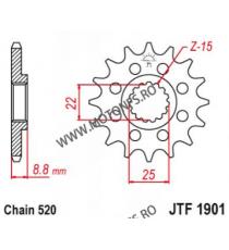 EMGO - Pinion (fata) JTF1901, 13 dinti - KTM 2/4 Takt 250 SX-F 105-411-13 EMGO Emgo Pinion 49,00lei 49,00lei 41,18lei 41,1...