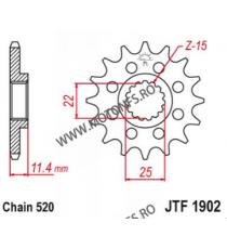 EMGO - Pinion (fata) JTF1902, 15 dinti - KTM 620SC/LC4 660 105-411-15 SPROCKETS Emgo Pinion 59,00lei 59,00lei 49,58lei 49,...