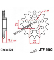 EMGO - Pinion (fata) JTF1902, 15 dinti - KTM 620SC/LC4 660 105-412-15 EMGO Emgo Pinion 64,00lei 64,00lei 53,78lei 53,78lei
