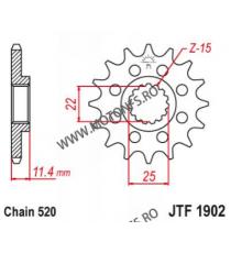 EMGO - Pinion (fata) JTF1902, 16 dinti - KTM 620EGSE/LSE 625SXC 640LC4 105-412-16 EMGO Emgo Pinion 59,00lei 59,00lei 49,58...
