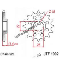 EMGO - Pinion (fata) JTF1902, 17 dinti - KTM Duke620/640LC4/SMC625/660 105-412-17 EMGO Emgo Pinion 68,00lei 68,00lei 57,14...