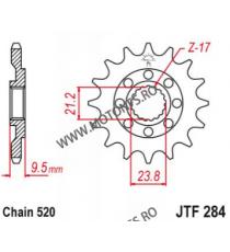 EMGO - Pinion (fata) JTF284, 13 dinti - CR250 1988-2004/500 1988-2001/CRF450 101-413-13 EMGO Emgo Pinion 49,00lei 49,00lei ...