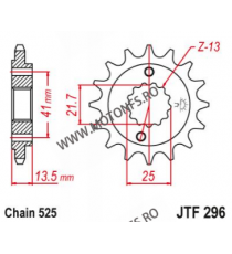 EMGO - Pinion (fata) JTF296, 16 dinti - XRV650/NT650/VT600C/NV400 101-563-16 EMGO Emgo Pinion 83,00lei 83,00lei 69,75lei 6...
