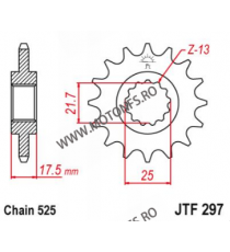 EMGO - Pinion (fata) JTF297, 15 dinti - VFR400R/CB500 1994-/CBF500 2004- 101-571-15 EMGO Emgo Pinion 83,00lei 83,00lei 69,7...