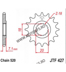 EMGO - Pinion (fata) JTF427, 13 dinti - RM125 1980-/RM-Z250 2010-2012 103-411-13 EMGO Emgo Pinion 39,00lei 39,00lei 32,77l...