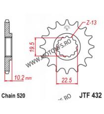 EMGO - Pinion (fata) JTF432, 14 dinti - DR350S/400 2000-/RM250 -2004 103-461-14 EMGO Emgo Pinion 49,00lei 49,00lei 41,18le...