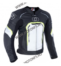 OXFORD - geaca piele STRADA SPORTS BLACK/ WHITE/ FLUO 2XL OX-LM1831022XL OXFORD Geci Piele Oxford 1,150.00 1,150.00 966,39 le...