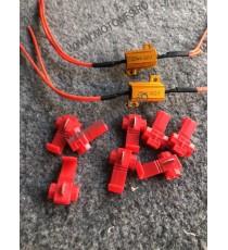 Set 2 Rezistente 25w 6.8 Ohmi pentru semnal LED Moto T9DOI T9DOI  Releu Semnal / Anulator eroare  40,00lei 40,00lei 33,61l...