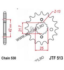 EMGO - Pinion (fata) JTF513, 16 dinti - ZXR750/VN800/ZX-9R/Raptor1000 105-665-16-9 EMGO Emgo Pinioane 44,00lei 44,00lei 36,...