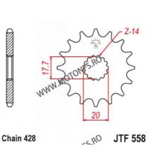 EMGO - Pinion (fata) JTF558, 14 dinti - TDR125/DragStar125/YZ85 2002- 102-311-14 SPROCKETS Emgo Pinion 25,00lei 25,00lei 21...