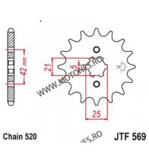 EMGO - Pinion (fata) JTF569, 17 dinti - RD350LC YPVS 1983- 105-427-17 SPROCKETS Emgo Pinion 39,00lei 39,00lei 32,77lei 32,...