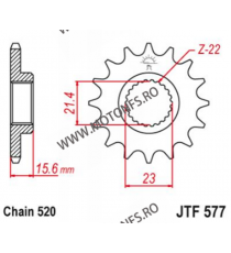 EMGO - Pinion (fata) JTF577, 14 dinti - XT500/600/TT600/SZR&XTZ660 102-481-15 SPROCKETS Emgo Pinion 68,00lei 68,00lei 57,14...