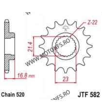 EMGO - Pinion (fata) JTF582, 16 dinti - XJ600Diversion 1991-2008 102-482-16 SPROCKETS Emgo Pinion 68,00lei 68,00lei 57,14l...