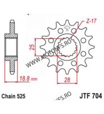 ESJOT - Pinion (fata) 50-29020, 17 dinti - RSV1000-2003/ETV 2001-/F650GS 105-513-17 ESJOT PINIOANE Emgo Pinion 107,00lei 107...