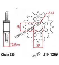 ESJOT - Pinion (fata) 50-32073S, 14 dinti - CBR600 1999-/900/1000 Sport 520 100-461-14 ESJOT PINIOANE Emgo Pinion 88,00lei 8...