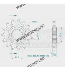 ESJOT - Pinion (fata) 50-32153S, 15 dinti - YZF-R1 2007- Kette 520 Sport 100-468-15 ESJOT PINIOANE Emgo Pinion 78,00lei 78,0...