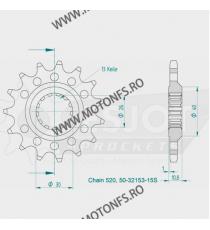 ESJOT - Pinion (fata) 50-32153S, 16 dinti - YZF-R12007- Kette 520 Sport 100-468-16 ESJOT PINIOANE Emgo Pinion 78,00lei 78,00...