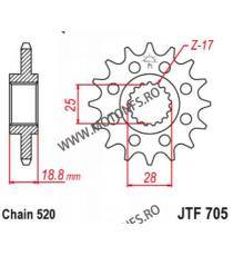 ESJOT - Pinion (fata) 50-32167, 16 dinti - Aprilia RSV4 Sport 520 100-459-16 ESJOT PINIOANE Emgo Pinion 73,00lei 73,00lei 6...