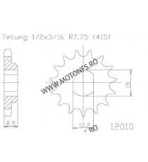 ESJOT - Pinion (fata) 50010, 11 dinti - KTM SX50 Pro 105-108-11 ESJOT PINIOANE Emgo Pinion 34,00lei 34,00lei 28,57lei 28,5...