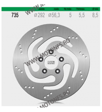 NG - Disc frana (fata) NG735 - HARLEY 2000- 510-0735 NG BRAKE DISC NG Discuri Frana 432,00lei 432,00lei 363,03lei 363,03lei