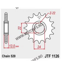 JT - Pinion (fata) JTF1126, 16 dinti - Aprilia Pegaso650- 1996/Moto6.5 105-482-16 JT Sprockets JT Sprockets Pinion 78,00lei ...