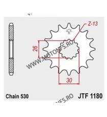 JT - Pinion (fata) JTF1180, 18 dinti - Triumph 105-662-18 JT Sprockets JT Sprockets Pinion 64,00lei 64,00lei 53,78lei 53,7...
