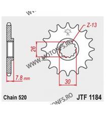 JT - Pinion (fata) JTF1184, 18 dinti - Triumph 865 2015- 105-462-18 JT Sprockets JT Sprockets Pinion 68,00lei 68,00lei 57,1...