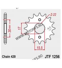 JT - Pinion (fata) JTF1256, 13 dinti - CRF50/CRF70/CR80/CR85 101-281-14 JT Sprockets JT Sprockets Pinion 34,00lei 34,00lei ...