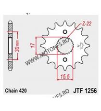JT - Pinion (fata) JTF1256, 15 dinti - CRF50/CRF70/CR80/CR85 101-281-15 JT Sprockets JT Sprockets Pinion 34,00lei 34,00lei ...