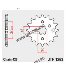 JT - Pinion (fata) JTF1263, 15 dinti - DR125SM 2008- 102-329-16 JT Sprockets JT Sprockets Pinion 34,00lei 34,00lei 28,57le...