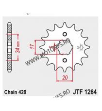 JT - Pinion (fata) JTF1264, 16 dinti - CBF125 2009- 101-320-16 JT Sprockets JT Sprockets Pinion 25,00lei 25,00lei 21,01lei...