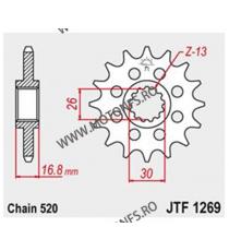 JT - Pinion (fata) JTF1295, 15 dinti - CBR600F -1998 Kette520 101-451-15 JT Sprockets JT Sprockets Pinion 78,00lei 78,00lei...