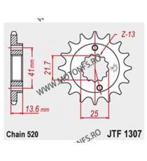 JT - Pinion (fata) JTF1307RB (garnitura cauciuc), 15 dinti - ZX-6R/RR/ZX-636 2003-2006 104-470-15-2 JT Sprockets JT Sprockets...