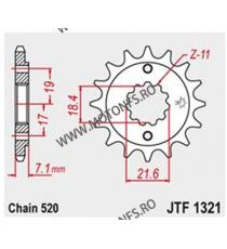 JT - Pinion (fata) JTF1321, 14 dinti - CB300F/ CBR250R/300R 101-442-14 JT Sprockets JT Sprockets Pinion 54,00lei 54,00lei 4...