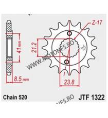 JT - Pinion (fata) JTF1332, 15 dinti - CB750 Sevenfifty 101-566-15 JT Sprockets JT Sprockets Pinion 83,00lei 83,00lei 69,75...
