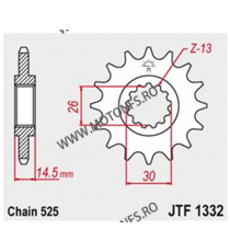 JT - Pinion (fata) JTF1332, 16 dinti - VFR800 2014- 101-566-16 JT Sprockets JT Sprockets Pinion 88,00lei 88,00lei 73,95lei...