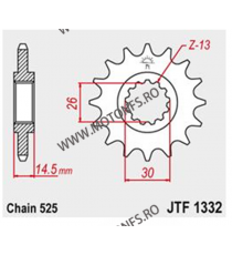 JT - Pinion (fata) JTF1332, 17 dinti - RVF750R-RC45 1995- 101-566-17 JT Sprockets JT Sprockets Pinion 88,00lei 88,00lei 73,...