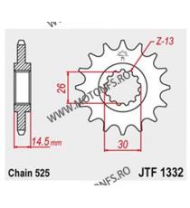 JT - Pinion (fata) JTF1332RB (garnitura cauciuc), 15 dinti - CB750 Sevenfifty 101-566-15-2 JT Sprockets JT Sprockets Pinion 8...