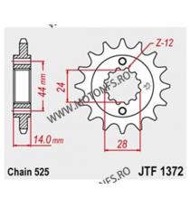JT - Pinion (fata) JTF1372, 17 dinti - VT750C2 1997-/ VT750DC 2001- 101-555-17 JT Sprockets JT Sprockets Pinion 93,00lei 93,...