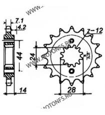 JT - Pinion (fata) JTF1372RB (garnitura cauciuc), 17 dinti - VT750C2 1997-/VT750DC 2001- 101-555-17-2 JT Sprockets JT Sprocke...