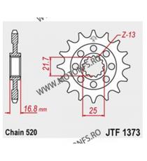 JT - Pinion (fata) JTF1373RB (garnitura cauciuc), 16 dinti - NC700S/NC700X/Integra 2012- 101-468-16-2 JT Sprockets JT Sprocke...