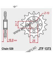 JT - Pinion (fata) JTF1373RB (garnitura cauciuc), 17 dinti - NC750S / NC750X 2014- 101-468-17-2 JT Sprockets JT Sprockets Pin...