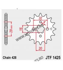 JT - Pinion (fata) JTF1425, 14 dinti - GSX-R/S 125 2017- 103-326-14 JT Sprockets JT Sprockets Pinion 30,00lei 30,00lei 25,2...