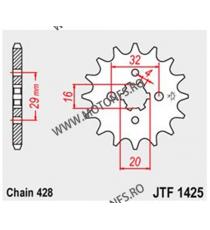 JT - Pinion (fata) JTF1425, 15 dinti - RV125 / RV125 VanVan 2003- 103-326-15 JT Sprockets JT Sprockets Pinion 30,00lei 30,00...