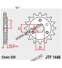 JT - Pinion (fata) JTF1448, 15 dinti - DR800/XF650/DR650SE Kette525 103-524-15 JT Sprockets JT Sprockets Pinion 73,00lei 73,...