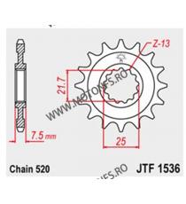 JT - Pinion (fata) JTF1536, 16 dinti - ZX-6R 2007- 104-471-16 JT Sprockets JT Sprockets Pinion 78,00lei 78,00lei 65,55lei ...