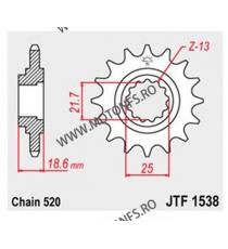 JT - Pinion (fata) JTF1538, 15 dinti - Z750 2004-/Z750S 2005- 104-465-15 JT Sprockets JT Sprockets Pinion 102,00lei 102,00l...