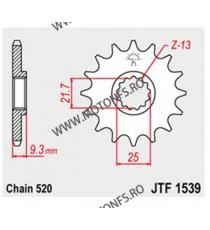 JT - Pinion (fata) JTF1539RB (garnitura cauciuc), 14 dinti - EX250R Ninja 2008- / Z300 2015- 104-469-14-2 JT Sprockets JT Spr...