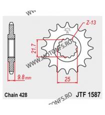 JT - Pinion (fata) JTF1587, 19 dinti - FZR400 Exup / SR400 2014- 102-368-19 JT Sprockets JT Sprockets Pinion 83,00lei 83,00...